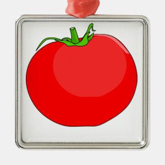 Tomato Drawing Metal Ornament
