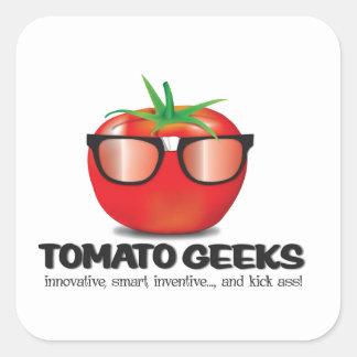 Tomato Geek Stuff Square Sticker