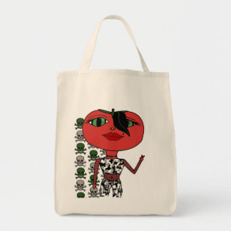 Tomato Girl - George with Skulls Canvas Bags