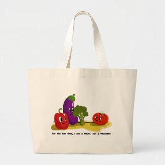 Tomato humor canvas bag