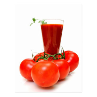 Tomato Juice And Fresh Tomatoes Postcard