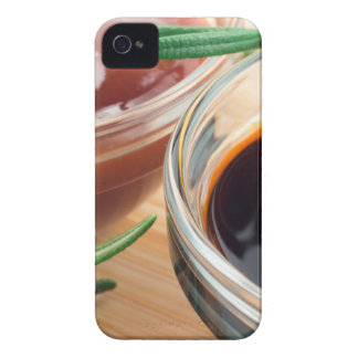 Tomato ketchup and soy sauce in a transparent bowl Case-Mate iPhone 4 case