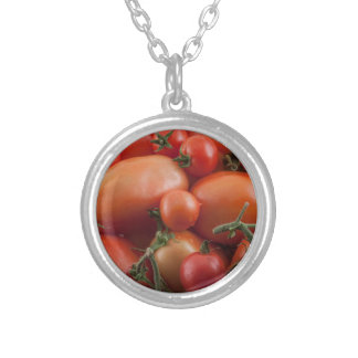 Tomato Mix Silver Plated Necklace