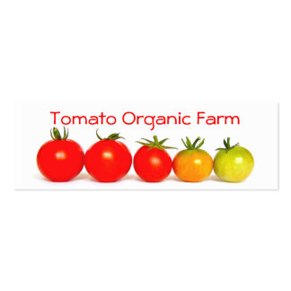 Tomato Organic Farm Pack Of Skinny Business Cards