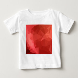 Tomato Red Abstract Low Polygon Background Baby T-Shirt