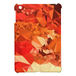Tomato Red Abstract Low Polygon Background iPad Mini Covers