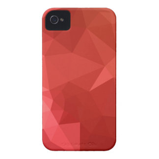 Tomato Red Abstract Low Polygon Background iPhone 4 Cases