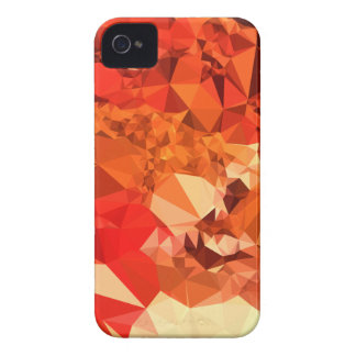 Tomato Red Abstract Low Polygon Background iPhone 4 Covers
