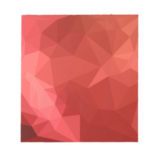 Tomato Red Abstract Low Polygon Background Notepad