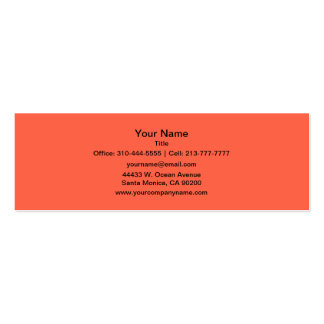 Tomato Red Business Card Template