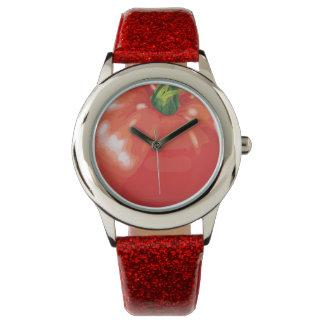 Tomato Red Glitter Watch