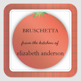 Tomato Red Plaid From the Kitchen of Label