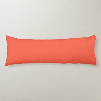 Tomato Red Solid Color Body Cushion