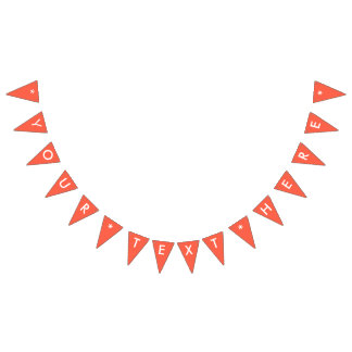 Tomato Red Solid Color Customize It Bunting