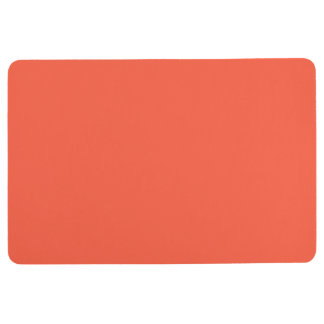 Tomato Red Solid Color Customize It Floor Mat