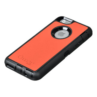 Tomato Red Solid Color Customize It OtterBox Defender iPhone Case