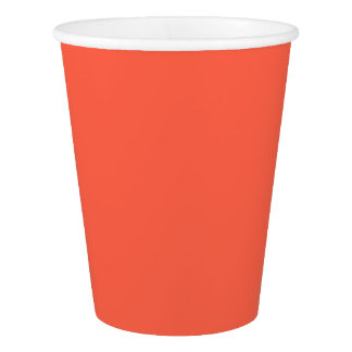 Tomato Red Solid Color Paper Cup
