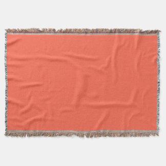 Tomato Red Throw Blanket