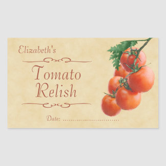 Tomato relish or canning rectangular sticker