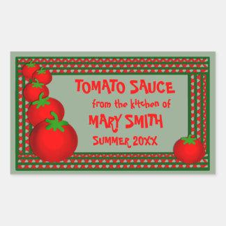 Tomato Sauce or Marinara Custom Labels