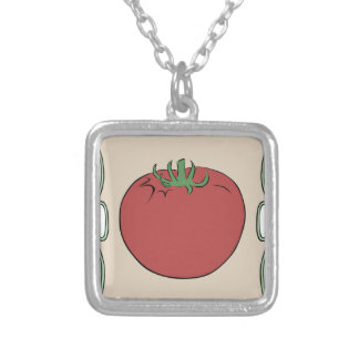 Tomato Seeds Silver Plated Necklace