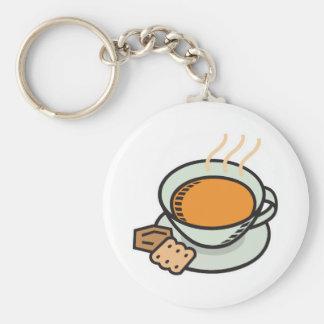 tomato soup basic round button key ring