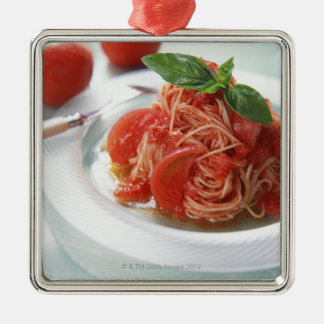 Tomato Spaghetti Metal Ornament
