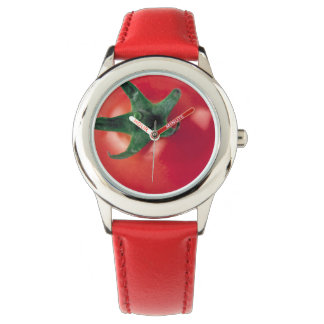 Tomato Stainless Steel Red Wristwatches