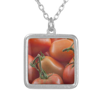 Tomato Stems Silver Plated Necklace