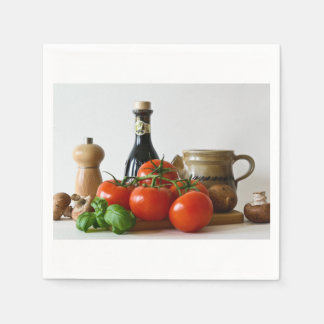 Tomato Still Life Disposable Napkin