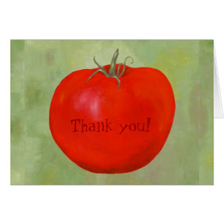 Tomato Thank You notecard