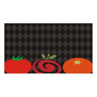 tomato trio cooking culinary catering business car business card template