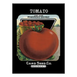 Tomato Vintage Seed Packet Poster