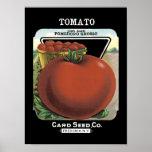Tomato Vintage Seed Packet Print