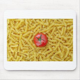 Tomato with fusilli pasta mouse pad