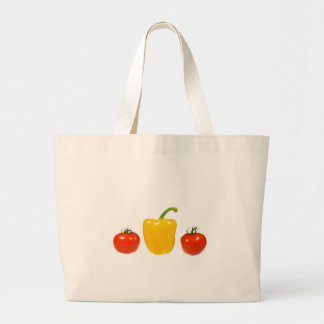 Tomatoe and pepper with white background bag