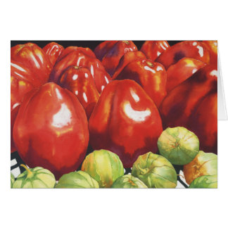 Tomatoes and Tomatillios Greeting Card