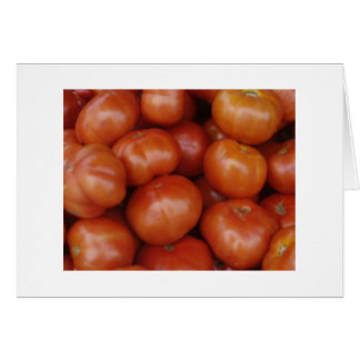 Tomatoes at the Green Market, Schenectady NY Card