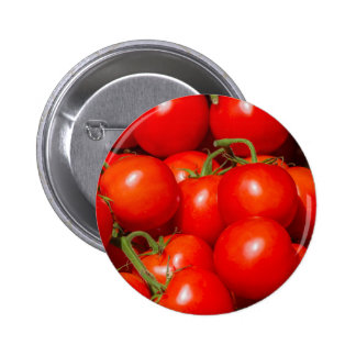 tomatoes at the market 6 cm round badge