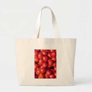 Tomatoes background jumbo tote bag