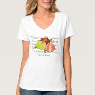 Tomatoes Botanical Vegetable Floral Fruit Garden T-Shirt