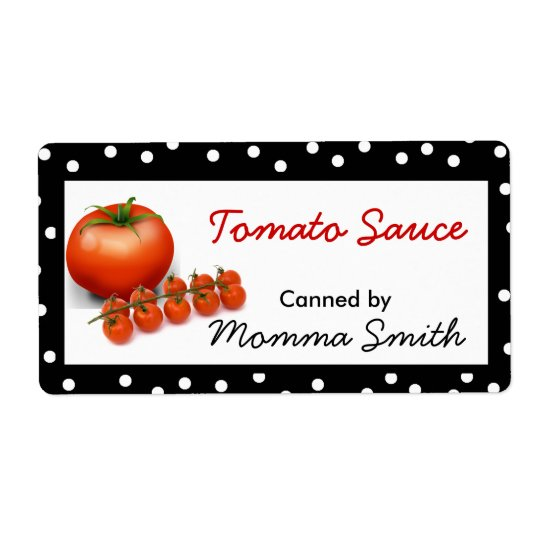 Tomatoes Custom Canning Labels