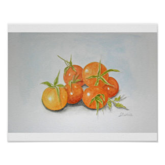 Tomatoes Fine Art Poster Print by Ilunia