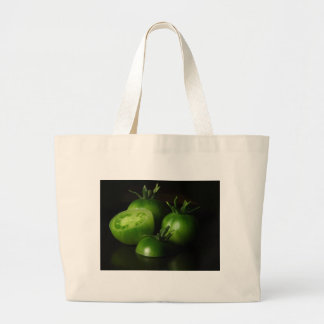 Tomatoes Green Still Life Canvas Bag