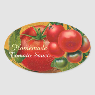 TOMATOES KITCHEN PRESERVES ,CANNINGS ,TOMATO SAUCE OVAL STICKER
