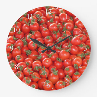 Tomatoes Large Clock