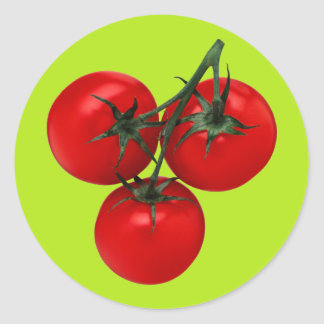 Tomatoes on a Vine Round Stickers