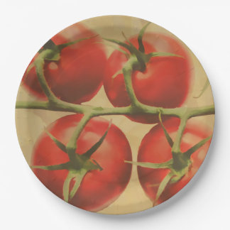 Tomatoes On The Vine 9 Inch Paper Plate