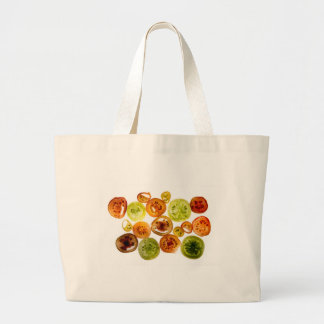Tomatoes on White Background Jumbo Tote Bag