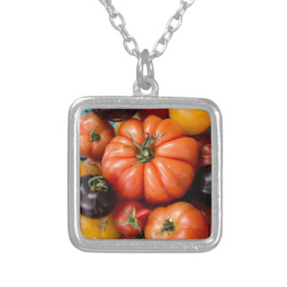 Tomatoes Silver Plated Necklace